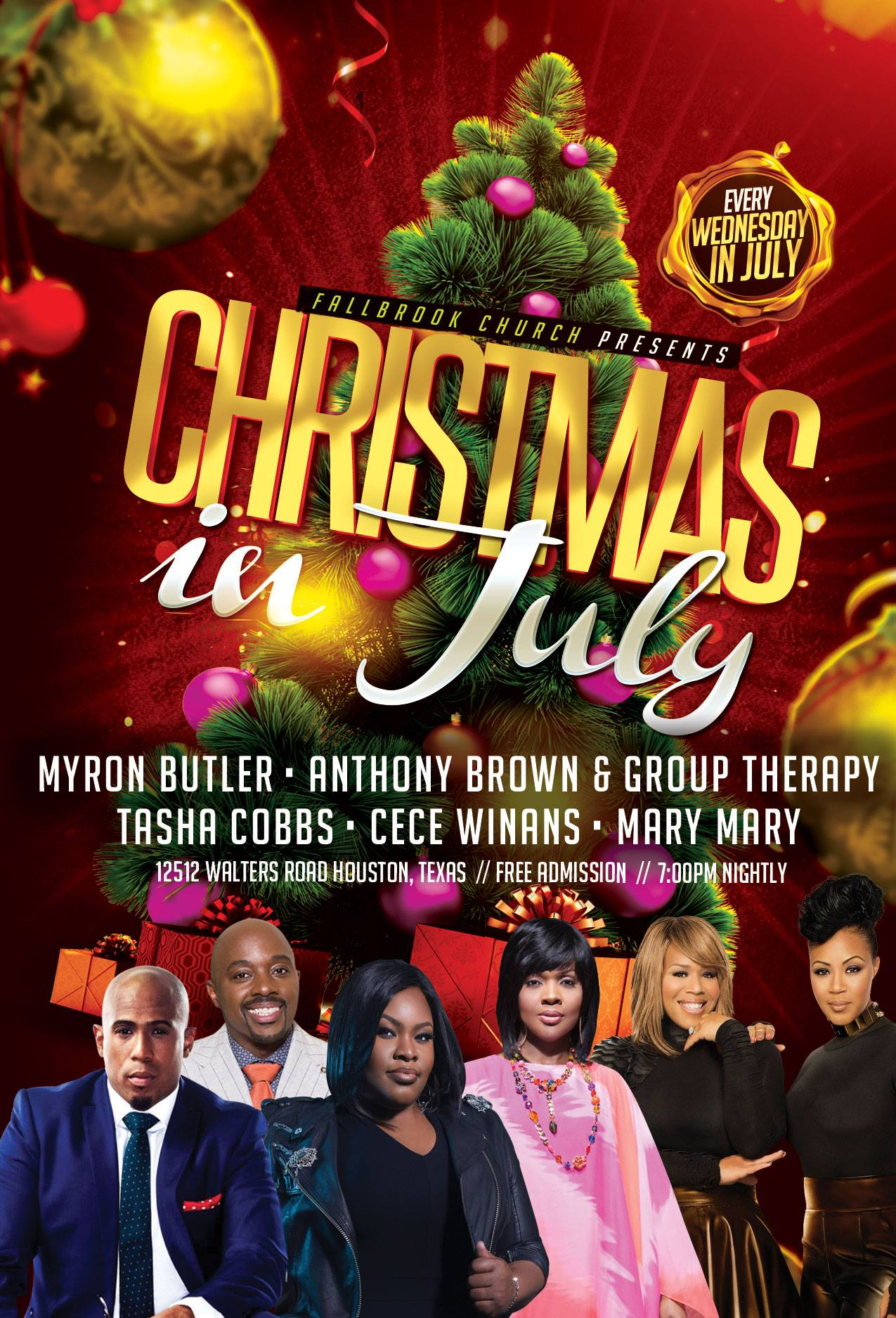 Fallbrook Church Christmas In July 2020 Fallbrook Church brings out gospel stars for 'Christmas in July