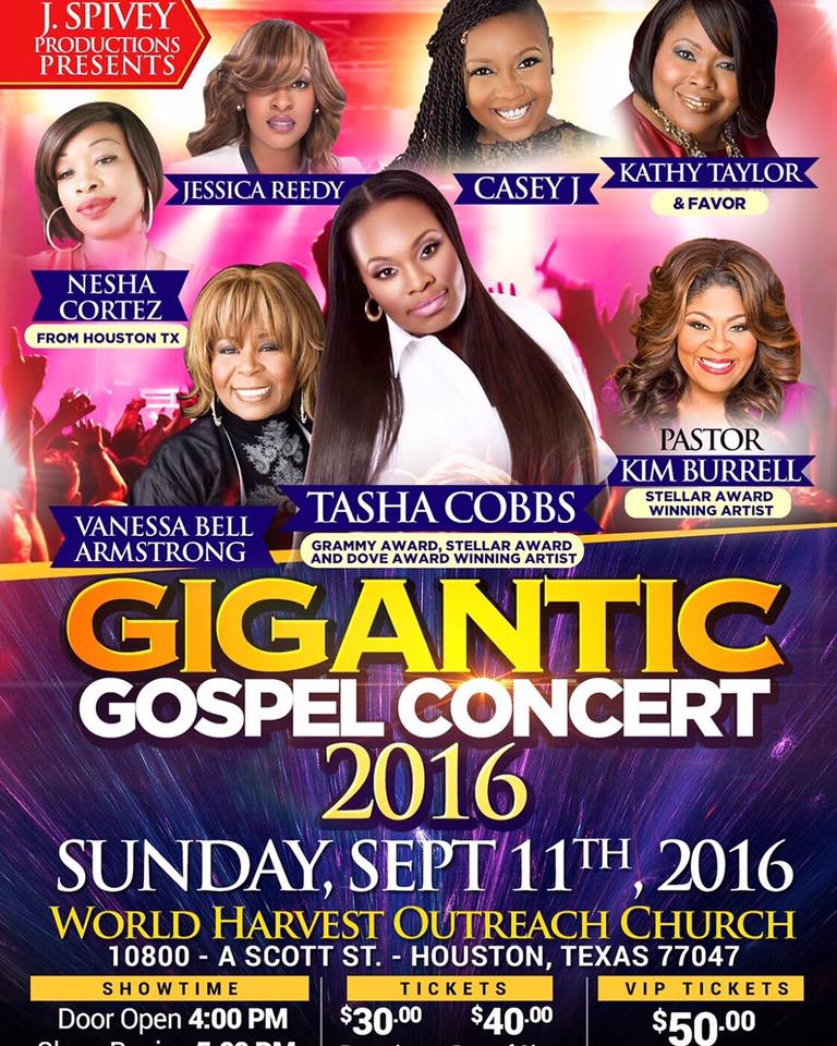 Gigantic Gospel Concert Houston 2016