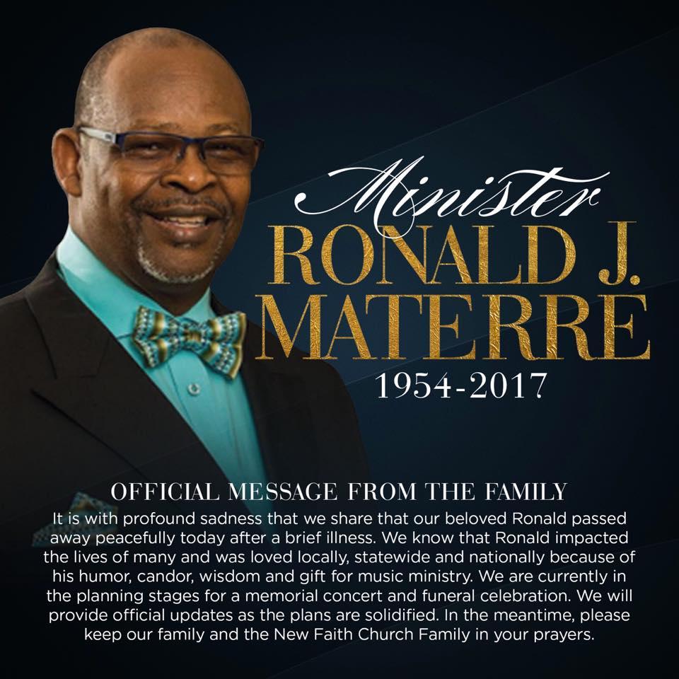 Ron Materre death announcement