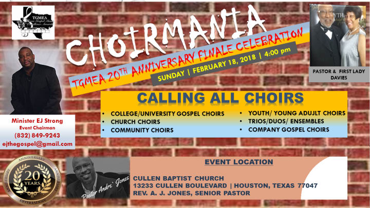 Texas Gospel Excellence Choir Mania