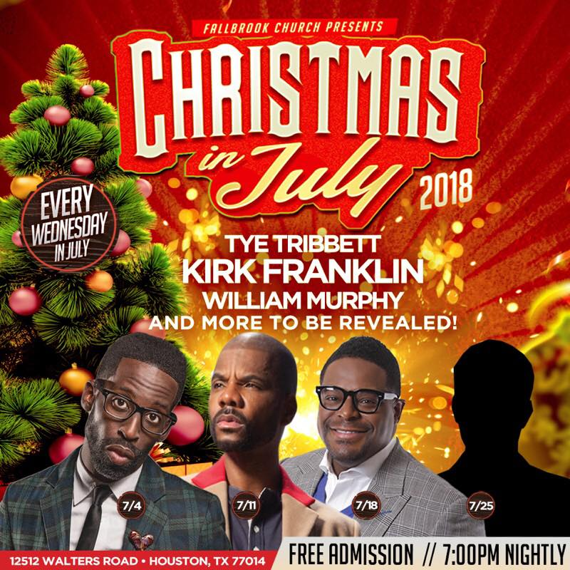 Fallbrook Church presents Christmas in July featuring Kirk Franklin ...
