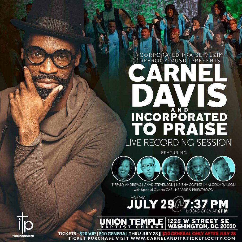 Carnel Davis Jr. - DC Live Recording