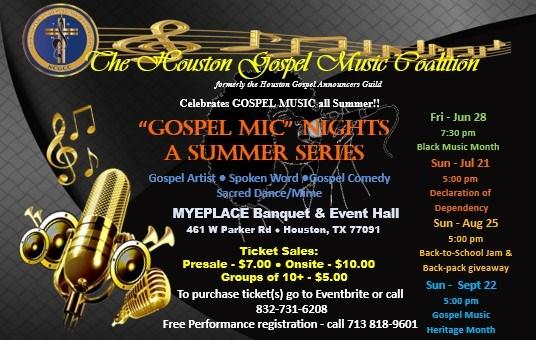 Houston gospel open mic