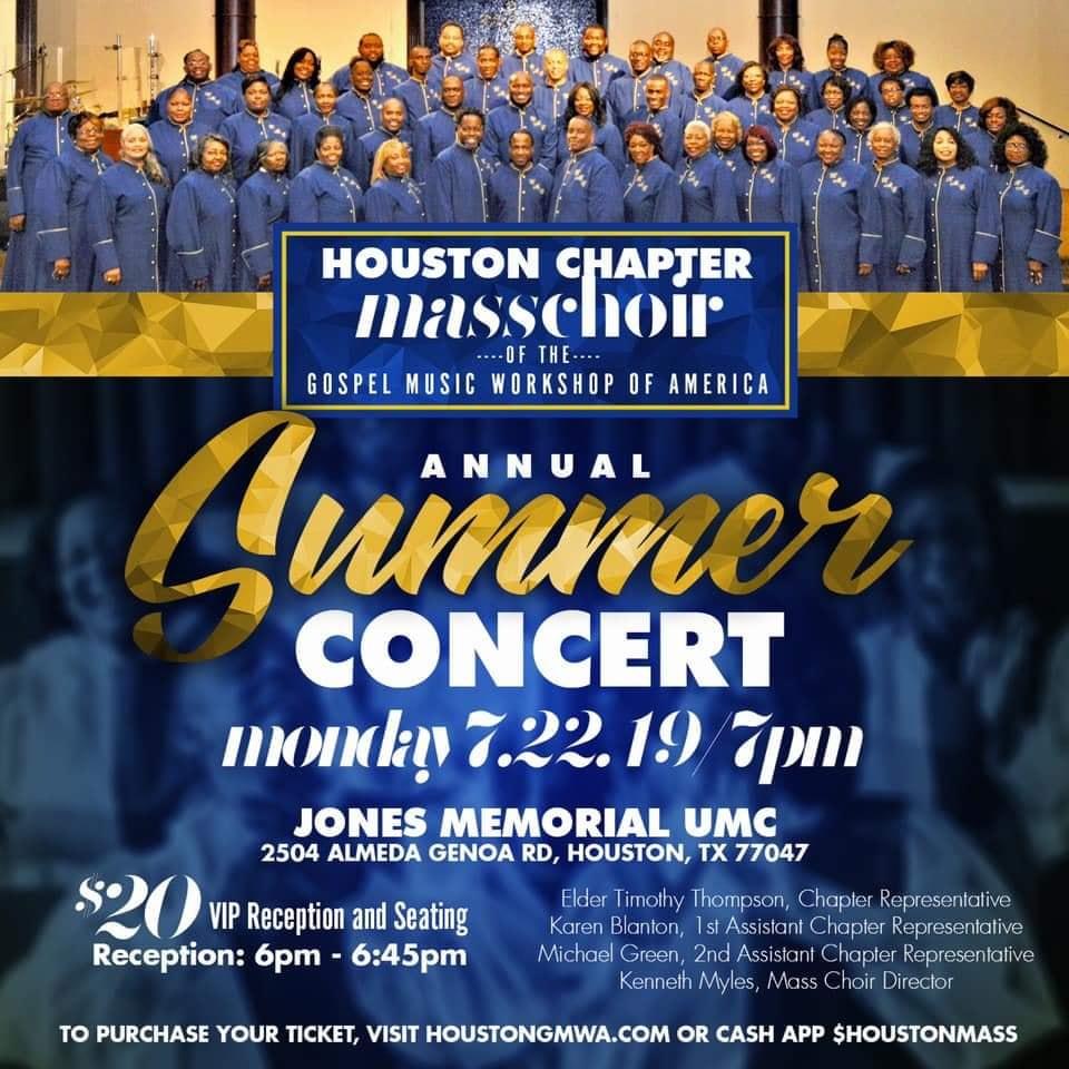 Houston Mass Choir 2019 Summer Concert