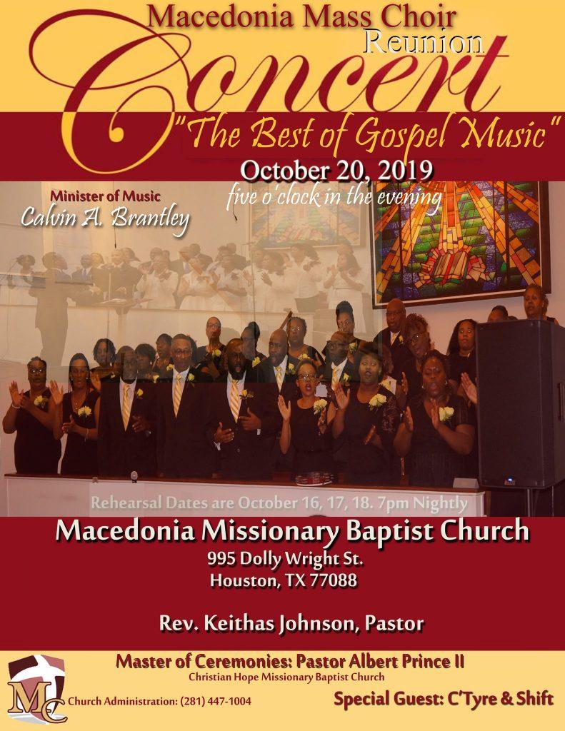 Macedonia Reunion Concert